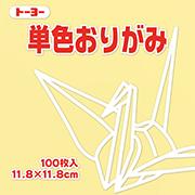 単色おりがみ(クリーム)11.8