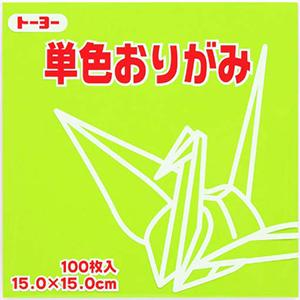 単色おりがみ(うすきみどり)114