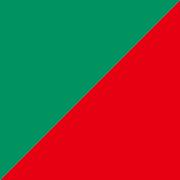 単色両面おりがみ 緑/赤