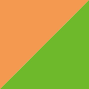 単色両面おりがみ 黄緑/薄橙