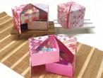 桜千代紙コレクション/2段式小物入れ折り方付