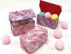 桜かすみちよがみ/小物入れ箱折り方付